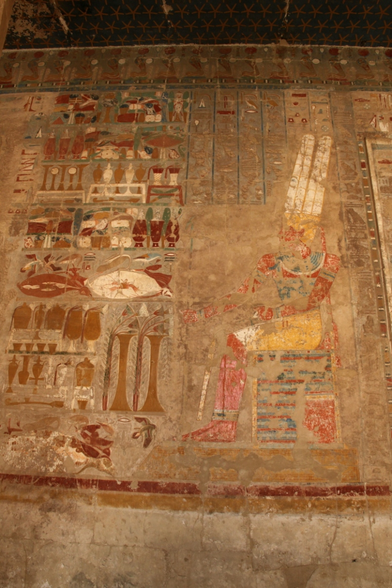 Receiving offerings - wall painting