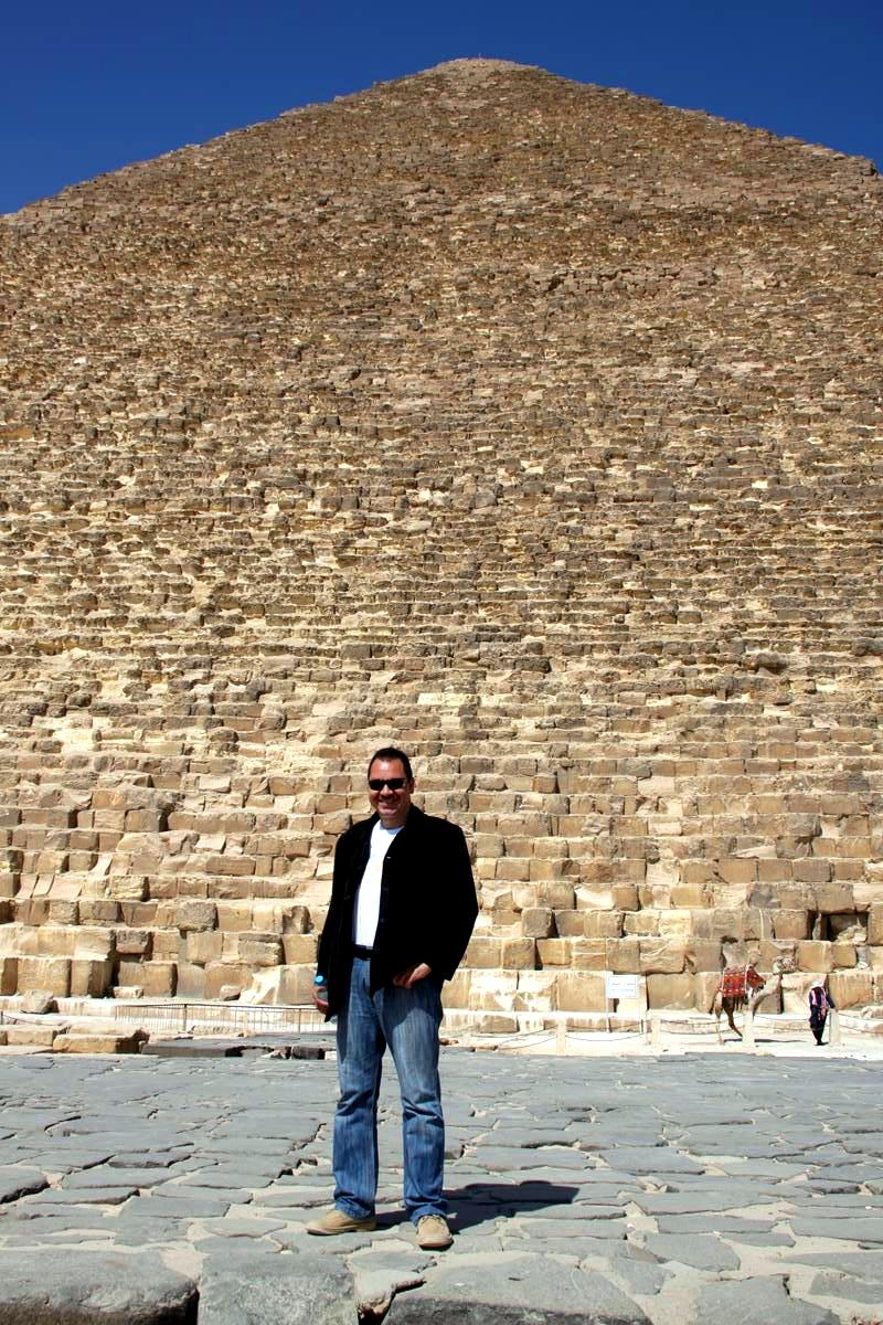 In Front of the Great Pyramid